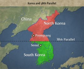 Image result for In 1945, after World War II, Korea was split into two countries North Korea and South Korea
